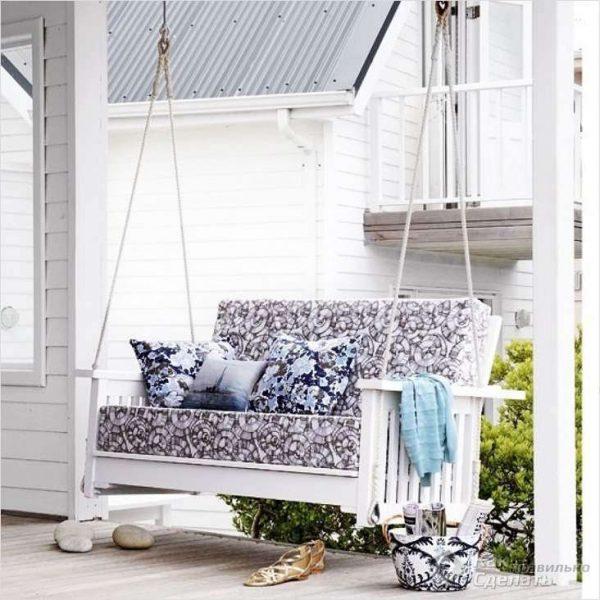 Beautiful outdoor swing