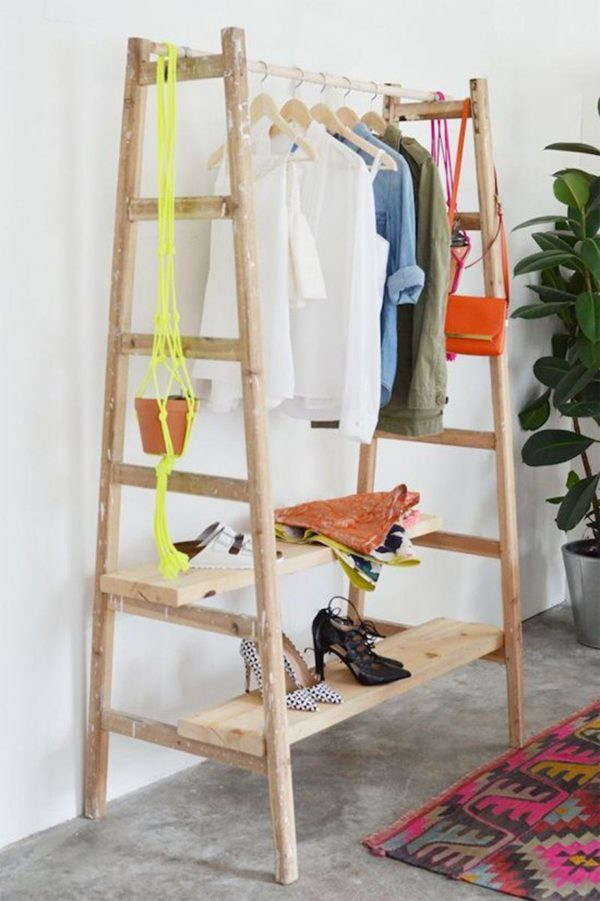 diy ways to reuse an old ladder 9