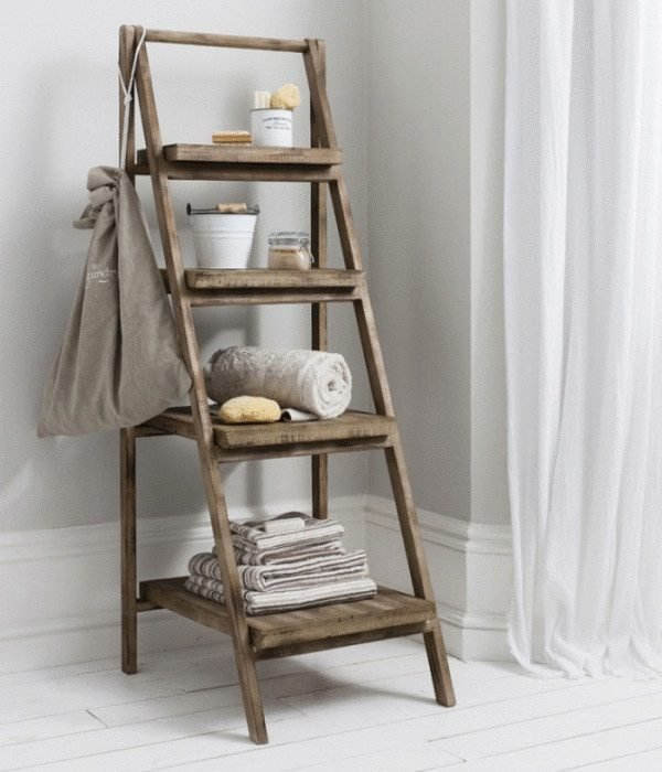 diy ways to reuse an old ladder 12