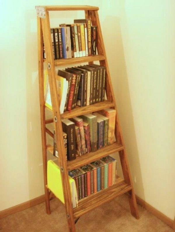 diy ways to reuse an old ladder 5
