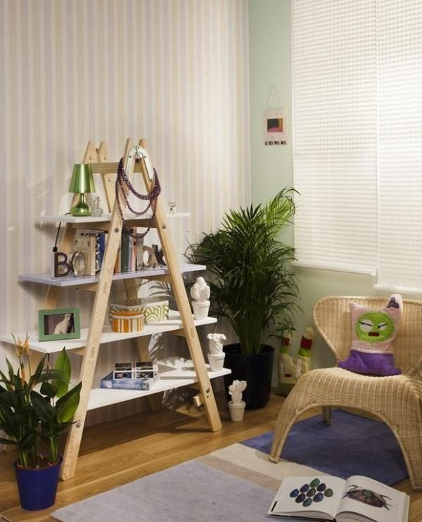 diy ways to reuse an old ladder 2