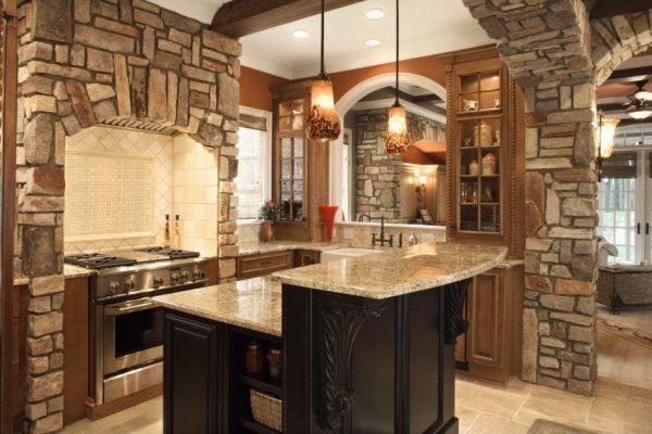 Stylish stone kitchen designs