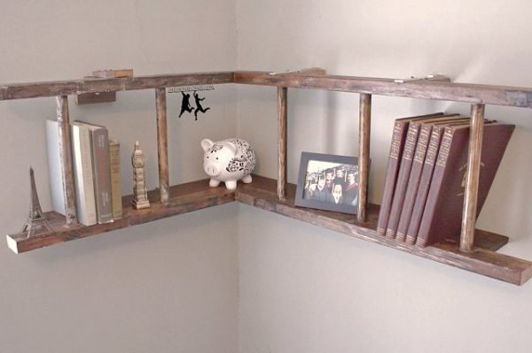 diy ways to reuse an old ladder 3