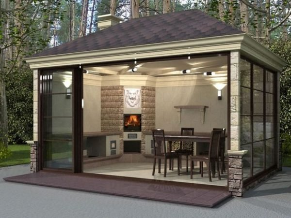 Summer Kitchen With Fireplace Ideas Little Piece Of Me