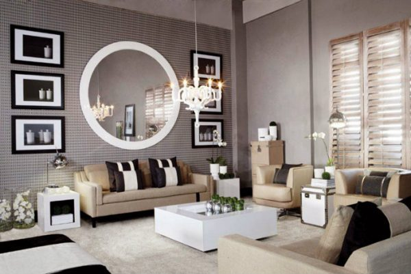 Good Image Credit Round Mirrors For Living RoomModern Mirrors For Living Room  LittlePieceOfMe