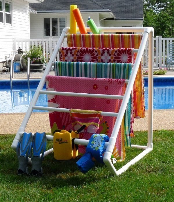 pvc pipe towel drying rack