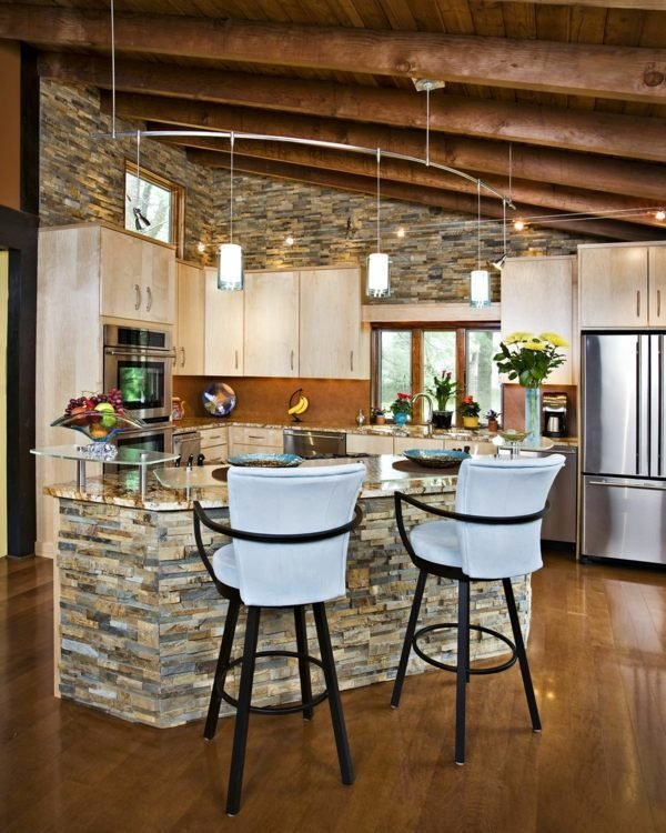 Stylish Stone Kitchen Designs