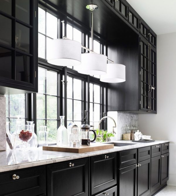 light above kitchen sink