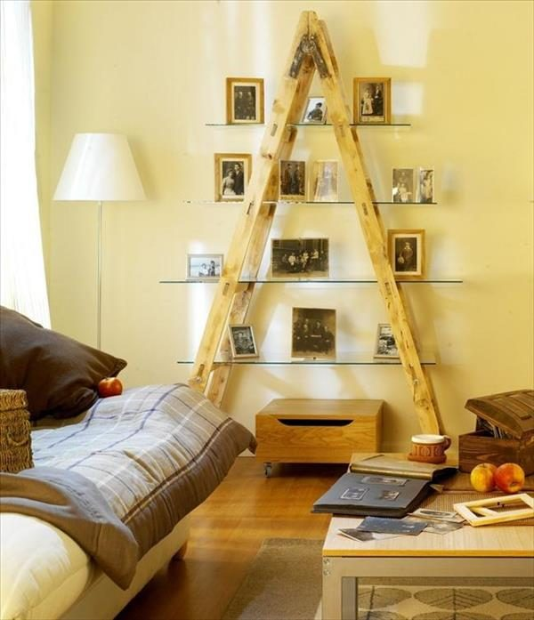 diy-ladder-living-room-ideas