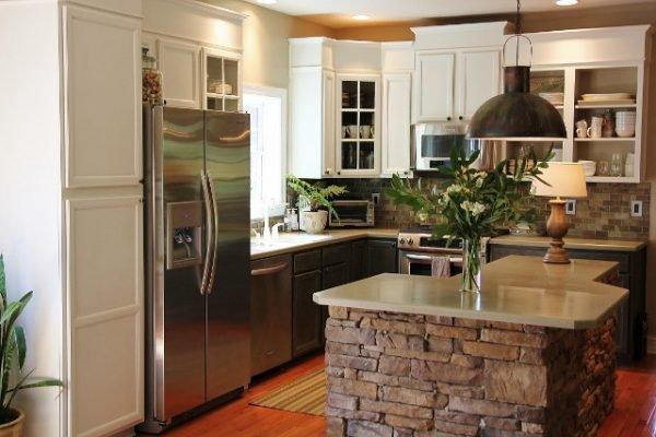 stone kitchen island 1
