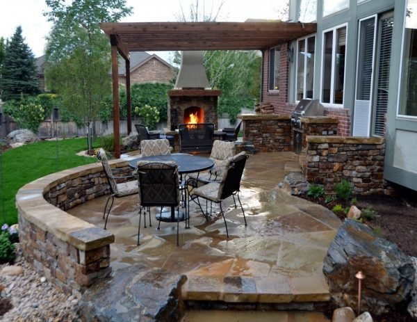 Summer kitchen with fireplace ideas little piece of me for Outdoor summer kitchen ideas