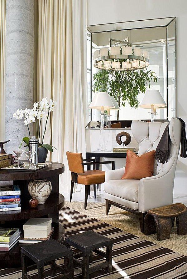 Elegant Mirrors Living Room