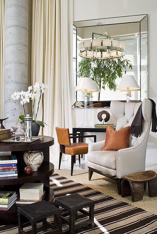 elegant mirrors living room