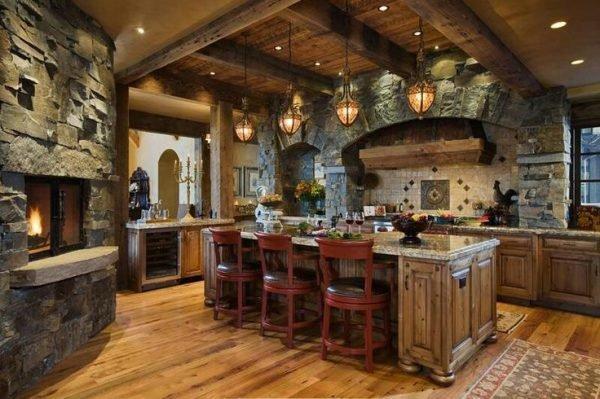 Stylish stone kitchen designs 1