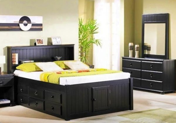 wooden beds with storage drawers