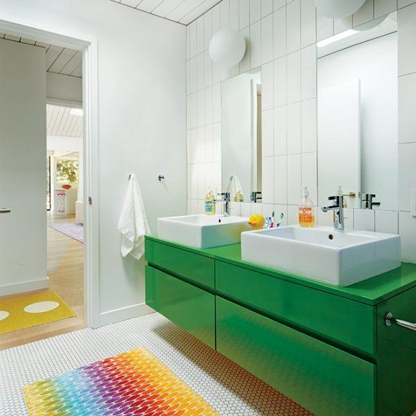 multi colored bath mats