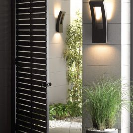 12 Modern outdoor lighting sconces for fun evenings on your terrace