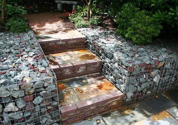 gabion stairs
