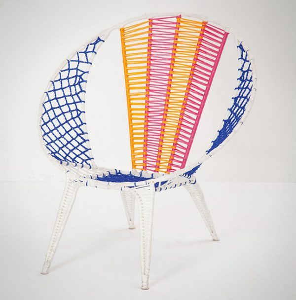 woven lawn chair