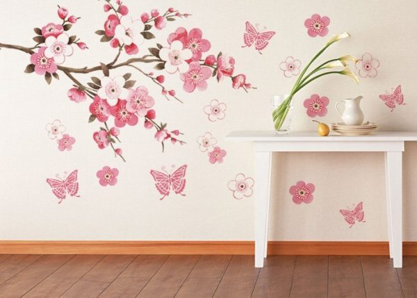 pink floral wallpaper for walls