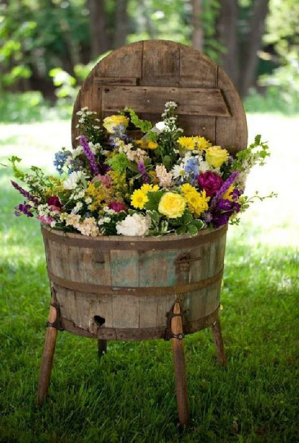 wine barrels for planters