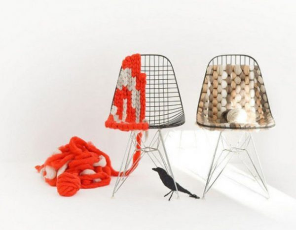 chairs with woven seats