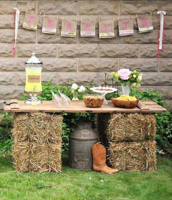 diy outdoor bar table
