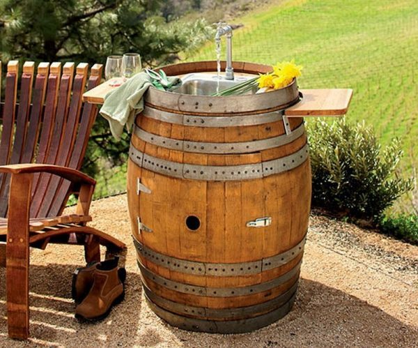 recycled wine barrel products