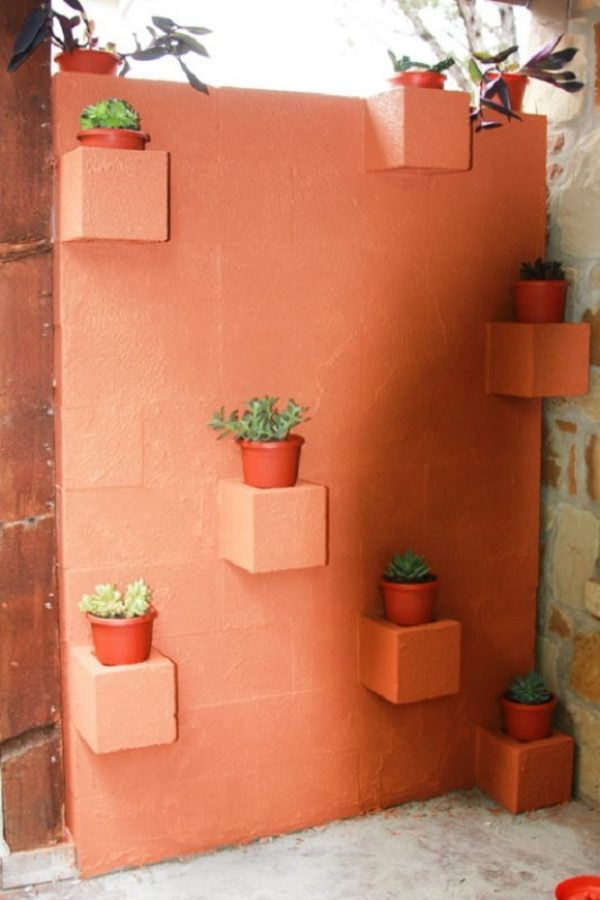 concrete block wall design