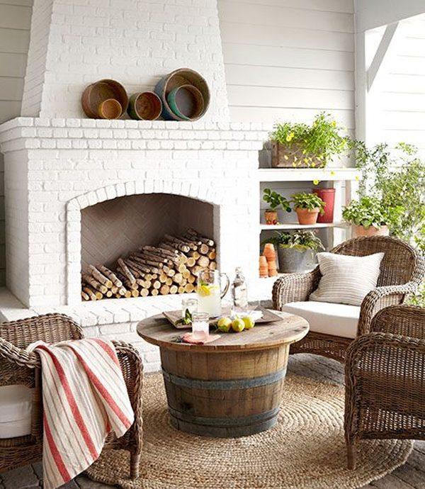 wine barrell coffee table