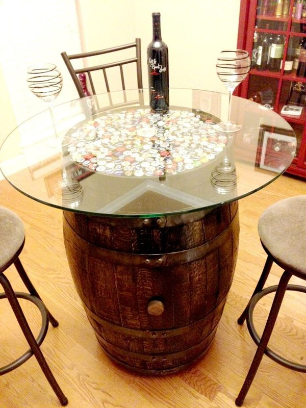 wine barrel table ideas