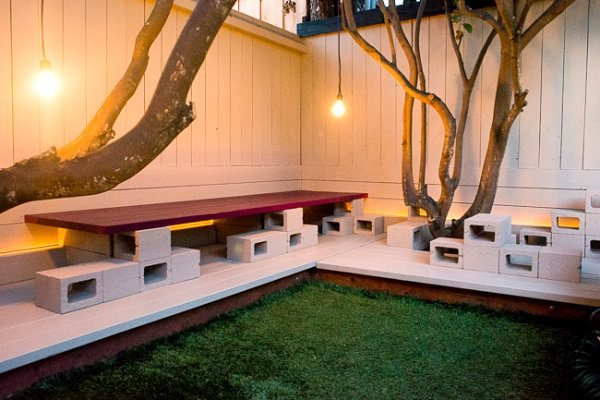 outdoor concrete benches designs