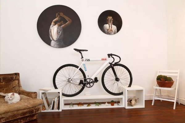floor mounted bike rack