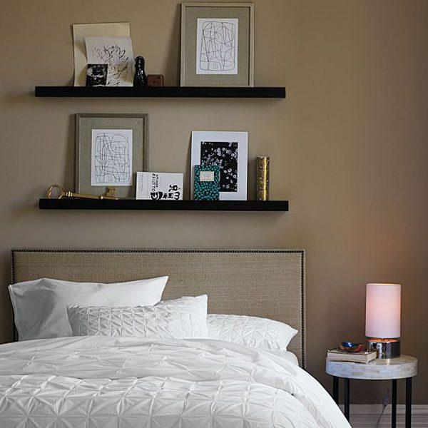 floating bedroom shelves
