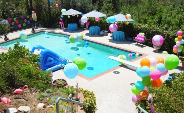 Pool Party Ideas For Kids best 25 kid pool parties ideas on pinterest Cool Pool Party Ideas Kids Pool Party Decoration Balloons Around The Swimming Pool Way Cool For