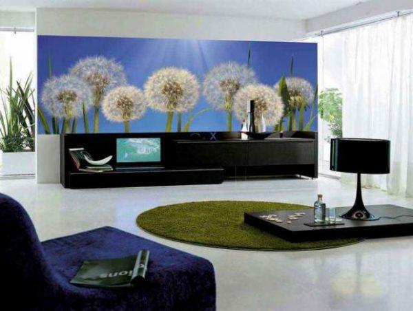 big floral wallpaper