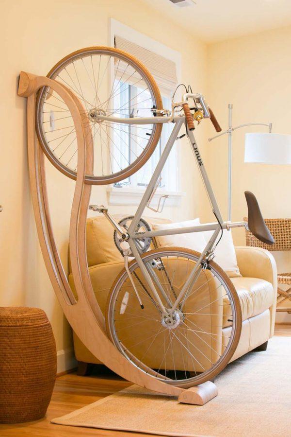 living room bike rack