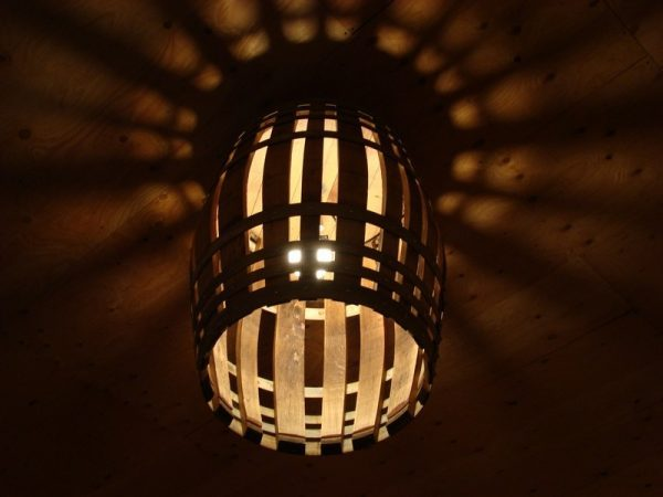diy wine barrel chandelier