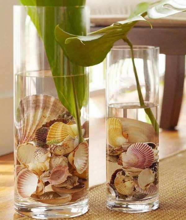 seashell flower arrangements