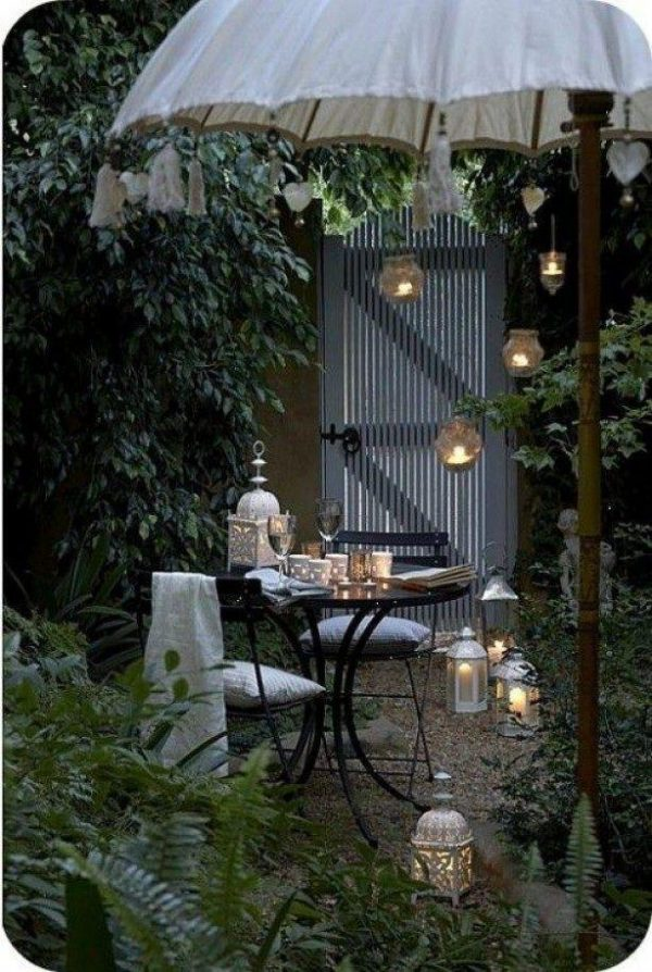 romantic garden lights