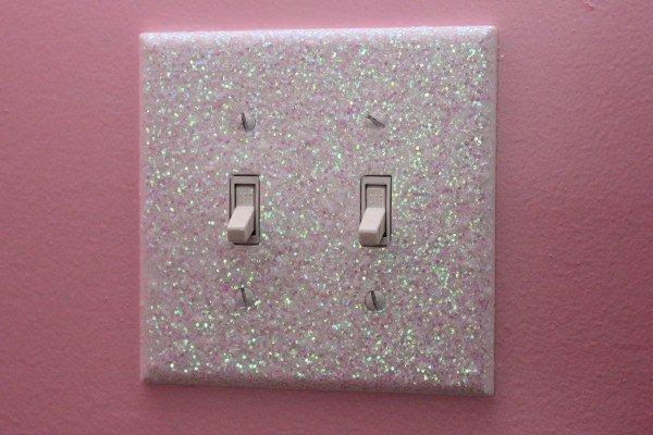 glitter light switch