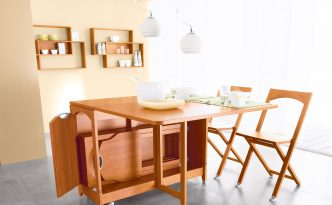 drop-leaf-dining-table-with-chair-storage
