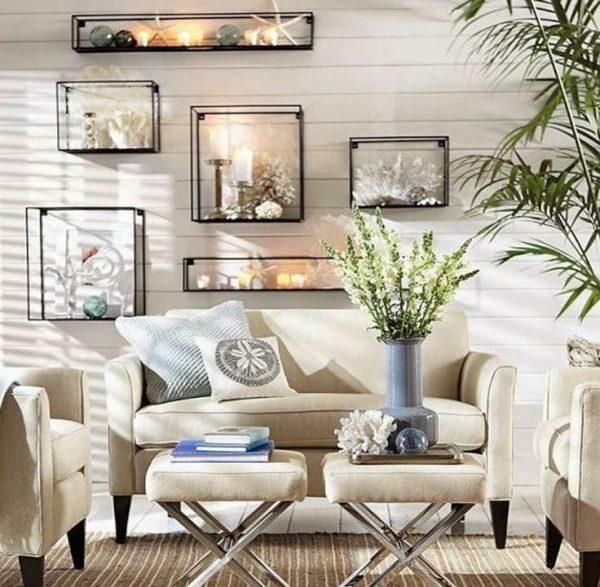 beach living room decor