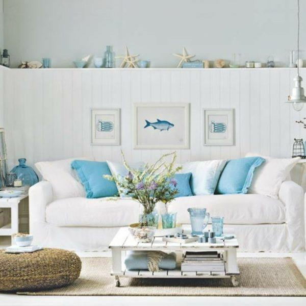Beach style living room ideas little piece of me for Beach themed living room colors