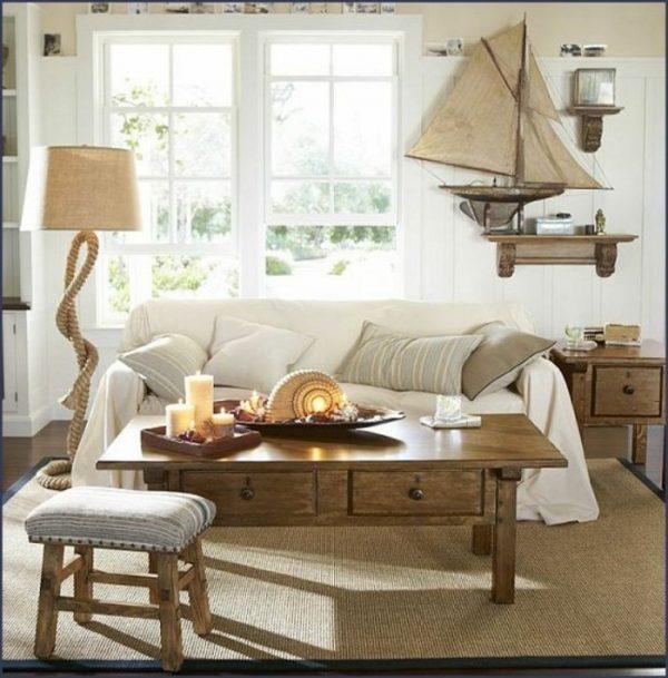 beach decor for living room