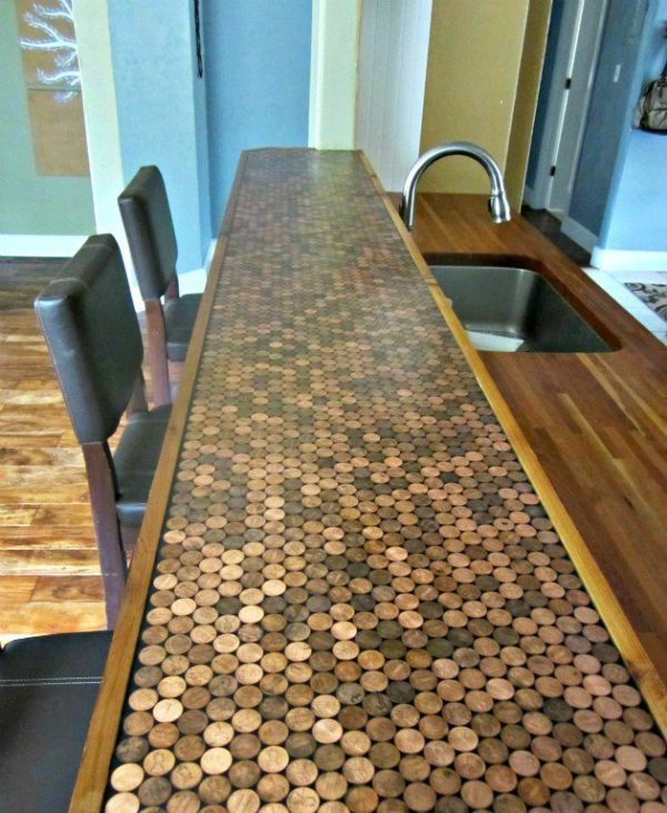 penny kitchen countertop