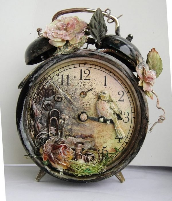 Old fashioned alarm clock for Diy home decor inspiration