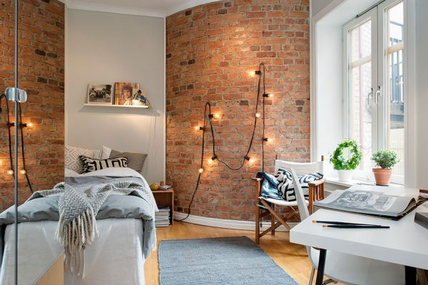exposed brick wall