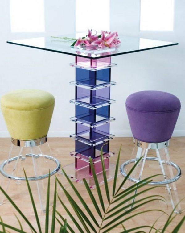 Colorful glass bar tables 4