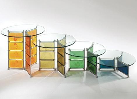 Colorful glass bar tables 5